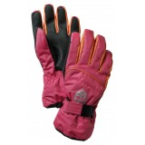 Hestra Primaloft JR handskar, Primaloft JR handskar, Fuchsia/Light Orange