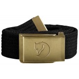 Fjällräven Canvas Brass Belt 3 cm, Canvas Brass Belt 3 cm, Black