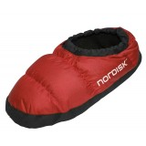 Nordisk Mos Down Shoes toffla, Mos Down Shoes toffla, Ribbon Red