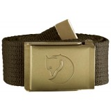 Fjällräven Canvas Brass Belt 4 cm , Canvas Brass Belt 4 cm , Dark Olive