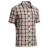 Icebreaker Compass SS Shirt Plaid herrskjorta, Compass SS Shirt Plaid herrskjorta, Monsoon/Snow/Clay
