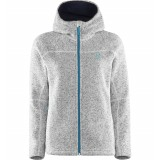 Haglöfs Swook Q Hood fleece, Swook Q Hood fleece, Soft White/Peacock