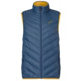 Me°ru' Kelowna II Light Down Vest Men herrväst, Kelowna II Light Down Vest Men herrväst, Bering Sea/Chinese Yellow