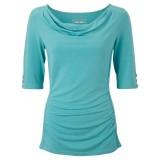Royal Robbins Essential Tencel Cowl Neck blus, Essential Tencel Cowl Neck blus, Aqua