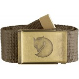 Fjällräven Canvas Brass Belt 4 cm , Canvas Brass Belt 4 cm , Taupe