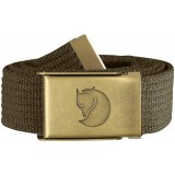 Fjällräven Canvas Brass Belt 3 cm, Canvas Brass Belt 3 cm, Dark Olive