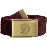 Fjällräven Canvas Brass Belt 3 cm, Canvas Brass Belt 3 cm, Dark Garnet