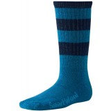 Smartwool Hike Light Crew Stripe Kids barnstrumpor, Hike Light Crew Stripe Kids barnstrumpor, Arctic Blue/Navy 033