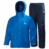 Helly Hansen Jr Duro Packable Set barnregnställ, Jr Duro Packable Set barnregnställ, 519 Cobalt Blue