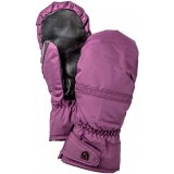 Hestra Primaloft Leather Female Mitt vantar, Primaloft Leather Female Mitt vantar, Grape/Black
