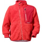 Didriksons Ciqala Kids Jacket barnfleece, Ciqala Kids Jacket barnfleece, Poppy 377
