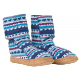 Me°ru' Norweger Fleece Slipper tofflor, Norweger Fleece Slipper tofflor, Blue/Red