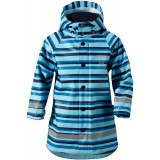 Didriksons Babu Printed Kid's Jacket regnjacka, Babu Printed Kid's Jacket regnjacka, Striped Breeze 096