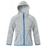 Me°ru' Malsjo Kids Fleece Hoody fleece, Malsjo Kids Fleece Hoody fleece, Grey Melange/Blue