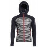 Yeti Clive Hybrid Down Hoodie fleece, Clive Hybrid Down Hoodie fleece, Anthracite/Gull Grey