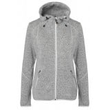 Me°ru' Namsos Knitted Fleece Hoody damfleece, Namsos Knitted Fleece Hoody damfleece, Grey Melange/Off White