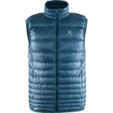 Haglöfs Essens III Down Vest Men dunvest, Essens III Down Vest Men dunvest, Steel Sky/Blue Ink