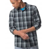 Icebreaker Departure II LS Shirt Plaid herrskjorta, Departure II LS Shirt Plaid herrskjorta, Jet HTHR/Monsoon