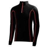 Helly Hansen HH Warm Freeze 1/2 Zip underställströja, HH Warm Freeze 1/2 Zip underställströja, 992 Black/Flag Red