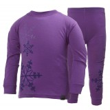 Helly Hansen HH Wool Set Kids barnunderställ, HH Wool Set Kids barnunderställ, 107 Sunburned Purple