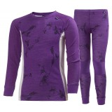 Helly Hansen Jr. HH Warm Set 2 barnunderställ, Jr. HH Warm Set 2 barnunderställ, 107 Sunburned Purple Symb. P.