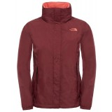 The North Face Resolve Jacket W damregnjacka, Resolve Jacket W damregnjacka, Deep Garnet Red