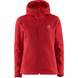 Haglöfs Swook Hood Women damefleece, Swook Hood Women damefleece, Real Red