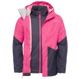 The North Face Girl's Kira Triclimate Jacket barnjakke, Girl's Kira Triclimate Jacket barnjakke, Cabaret Pink
