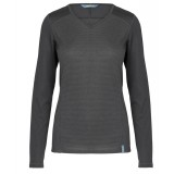 Me°ru' Bari Long Sleeve dam-T-shirt, Bari Long Sleeve dam-T-shirt, Black/Platinum