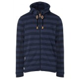 Me°ru' Traisen Knit Fleece Jacket Men herrfleece, Traisen Knit Fleece Jacket Men herrfleece, Blue Stripes