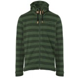 Me°ru' Traisen Knit Fleece Jacket Men herrfleece, Traisen Knit Fleece Jacket Men herrfleece, Green Stripes