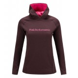 Peak Performance Kate Hood Women damfleece, Kate Hood Women damfleece, Mahogany