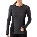 Smartwool Women's PhD Light Long Sleeve undertröja, Women's PhD Light Long Sleeve undertröja, Charcoal Heather 010