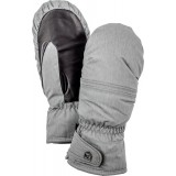 Hestra Primaloft Leather Female Mitt vantar, Primaloft Leather Female Mitt vantar, Grey Melange/Black