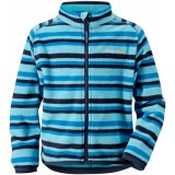Didriksons Monte Printed Kid's Microfleece Jacket barnfleece, Monte Printed Kid's Microfleece Jacket barnfleece, Striped Pearl 095