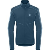 Haglöfs Heron Jacket Men herrfleece, Heron Jacket Men herrfleece, Blue Ink