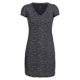 Icebreaker Wmns Yanni SS V Dress Windstorm Klänning, Wmns Yanni SS V Dress Windstorm Klänning, Black HTHR/Snow