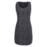 Icebreaker Wmns Yanni Tank Dress Windstorm Klänning, Wmns Yanni Tank Dress Windstorm Klänning, Black HTHR/Snow