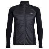 Icebreaker Men's Ellipse Jacket Herrtröja, Men's Ellipse Jacket Herrtröja, Black/Metal