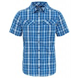 The North Face PINE KNOT SHIRT S/S MEN Herrskjorta, PINE KNOT SHIRT S/S MEN Herrskjorta, MONSTER BLUE PLAID
