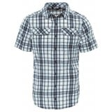 The North Face PINE KNOT SHIRT S/S MEN Herrskjorta, PINE KNOT SHIRT S/S MEN Herrskjorta, ASPHALT GREY PLAID