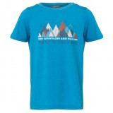 Me°ru' Veria T-shirt Kids barn-T-shirt, Veria T-shirt Kids barn-T-shirt, Methyl Blue
