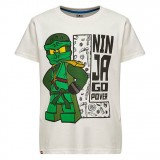 LEGO Wear Boy's T-shirt S/S Ninjago Power, Boy's T-shirt S/S Ninjago Power, Off White