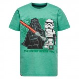 LEGO Wear Boy's T-shirt S/S Star Wars, Boy's T-shirt S/S Star Wars, Green