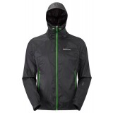 Montane Lite-Speed Jacket vindjacka, Lite-Speed Jacket vindjacka, Black/Aurora Green