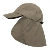 Me°ru' Cap with Neck Flap keps, Cap with Neck Flap keps, Olive