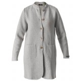 Holebrook Helene Coat damtröja, Helene Coat damtröja, Light Grey Melange