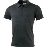 Lundhags Merino Light Polo Tee herrpiké, Merino Light Polo Tee herrpiké, Grey Melange