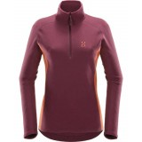Haglöfs Astro II Top Women damfleece, Astro II Top Women damfleece, AUBERGINE/DUSTY RUST