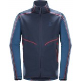 Haglöfs Heron Jacket Men herrfleece, Heron Jacket Men herrfleece, TARN BLUE/BLUE INK